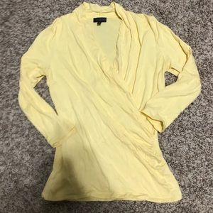 The Limited Top Yellow V Neck Size M